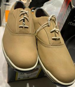 New FootJoy Mens Contour Casual Golf Shoes Mens Size 9M Tan