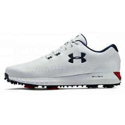 NEW Under Armour Mens HOVR Drive UA Golf Shoes White/Red/Aca