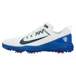 New Mens Nike Lunar Command 2 Golf Shoes White/Blue 849968-1