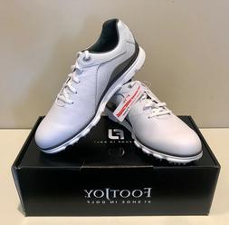 FOOTJOY NEW Mens PRO SL GOLF SHOES Style 53267 White / Silve