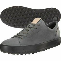 NEW Ecco Mens Soft Hydromax  Grey Nubuck Spikeless Golf Shoe