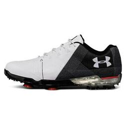 NEW Mens Under Armour Spieth 2 Golf Shoes White / Black - Ch