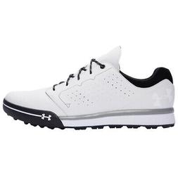 NEW Mens Under Armour Tempo Hybrid Golf Shoes White / Black