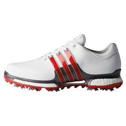 NEW Adidas Mens Tour 360 2.0 Golf Shoes F33625 White / Red -