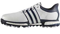 NEW MEN'S ADIDAS TOUR 360 BOOST GOLF SHOES WHITE/BLUE Q44