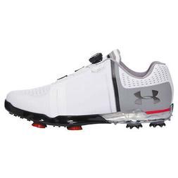 NEW Mens Under Armour UA Spieth One BOA Golf Shoes White/Bla