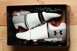 New Mens Under Armour UA Spieth One E Wide Golf Shoes White