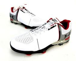 New Men's Under Armour UA Spieth One Wide Golf Shoes White