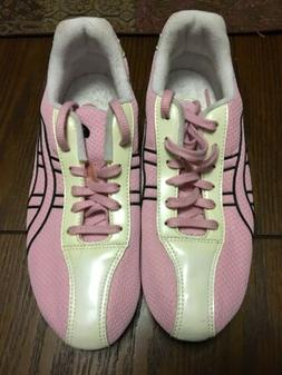 New Pink Asics Women's Hyper Rocketgirl II Golf Shoes - Si