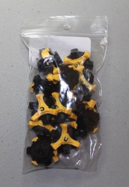 NEW Champ Stinger Yellow/ Black Q Lok System Golf Spikes Cle