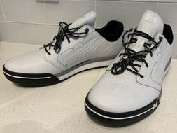 New Under Armour Tempo Spikeless Golf Shoes White/Black 1270