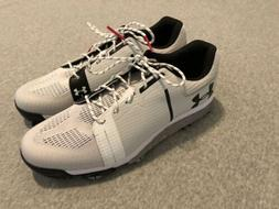 New Under Armour Tempo Sport Golf Shoes Cleats White Silver