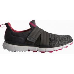 NEW WOMEN'S ADIDAS CLIMACOOL KNIT GOLF SHOES GREY/PINK Q44