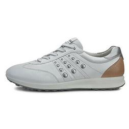New Womens Ecco Street EVO One Golf Shoes White / Mineral 6-