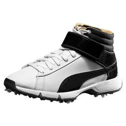 NEW Youth Puma Hi Top Junior Jr Golf Shoes White Black Size