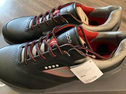 NIB ECCO Men's Base One Golf Shoes Black/Steel US 9-9.5/EU