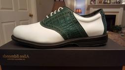 Allen Edmonds Nicklaus Muirfield Mens Golf Shoes New Wh/Grn