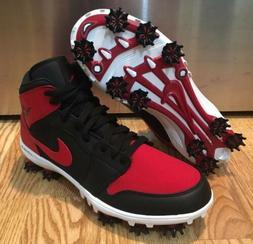 Nike Air Jordan 1 Bred Golf Shoes Size 9 Custom Brand New In
