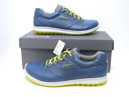 NwB Ecco Biom Hybrid 2 Men's Golf Shoes Denim Blue/Sulphur S