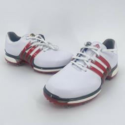 NWOB adidas Boost Tour 360 2.0 Golf Shoes Red White Mens 9 F