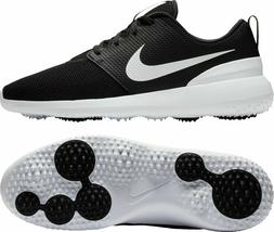 NWOB MEN'S NIKE ROSHE G GOLF SHOES AA1837-001 BLACK / WHITE