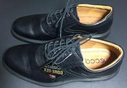NWOB Ecco Mens Gortex Black GOLF Shoes EUR Size 43 NWOB