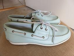 NWOT Canoos Women's Golf Leather Shoes SZ 10 Brighley Blue