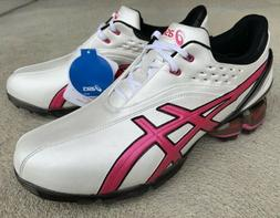 NWT! Asics GEL-Ace Pro Men's 12 Golf Shoes White/Pink/Blac