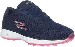 Skechers Women's Go Golf Birdie Golf Shoe Navy/Pink Mesh 7.5