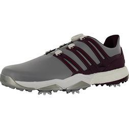 Adidas Powerband BOA Boost Golf Shoe, Mid Grey/Red Night/Mys