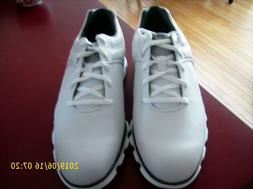 FOOTJOY PRO SL Spikeless Golf Shoes Mens size 9 M White/Silv