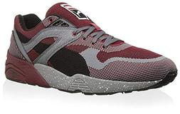 Puma Men's R698 Knit Mesh Splatter, Rio Red/Steel Gray, 13 M