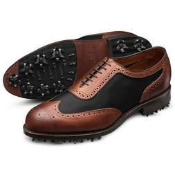 RARE New Allen Edmonds Honors Collection 1 Up Golf Shoes Bla