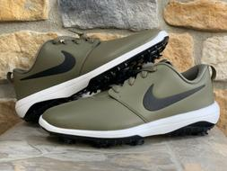 Nike Roche G Tour Golf Shoes  Olive Green/White/Black Spikes