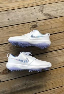 Nike Roshe G Tour NRG Women's Golf Shoes Spikes White Floral
