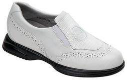 Sandbaggers Golf Shoes: Madison White Lizard