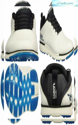 Skechers Men's Go Golf Elite 3 Shoe 12 Wide, White/Navy