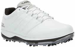 Skechers Men's Pro 4 Waterproof Golf Shoe, White/Black, 11 W
