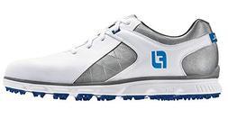 FootJoy Men's Pro SL Spikeless Plain Toe Rover Whte/Grey/Lig