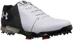 Under Armour Men's Spieth 2 E Golf Shoe, White 1 /Black, 9.5