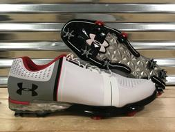 Under Armour Spieth One Golf Shoes Spikes White Red Black SZ