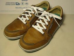 ashworth spikeless men's US 9 brown leather golf shoes Nice!