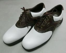 ETONIC STABILITES Brown White Leather Golf Shoes Mens Size 1