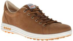 ECCO Men's Street EVO Plain Toe Golf Shoe,Camel,42 EU/8-8.5