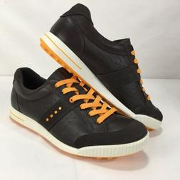 Ecco Street Premiere Licorice/Coffee/Fanta Spikeless Golf Sh