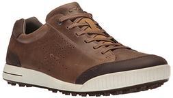 ECCO Men's Street Retro Hydromax Golf Shoe, Birch/Coffee, 43