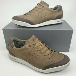 ECCO Men's Street Retro Hydromax Golf-Shoes, Birch/Coffee, 4