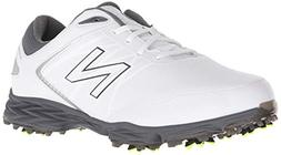 New Balance Men's Striker Golf Shoe, White/Grey, 12 4E US