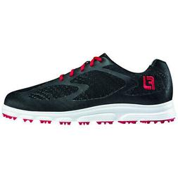 superlite xp spikeless golf shoes black red