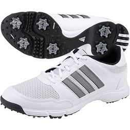 adidas Men's Tech Response 4.0 Golf Shoe, Iron/White/Black,